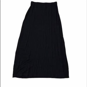 Old Navy black maxi skirt with side slits